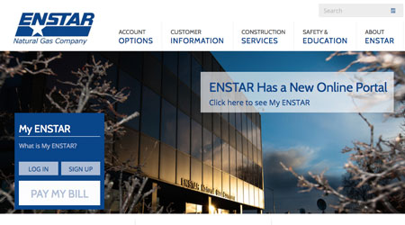 ENSTAR: Utility Website Redesign